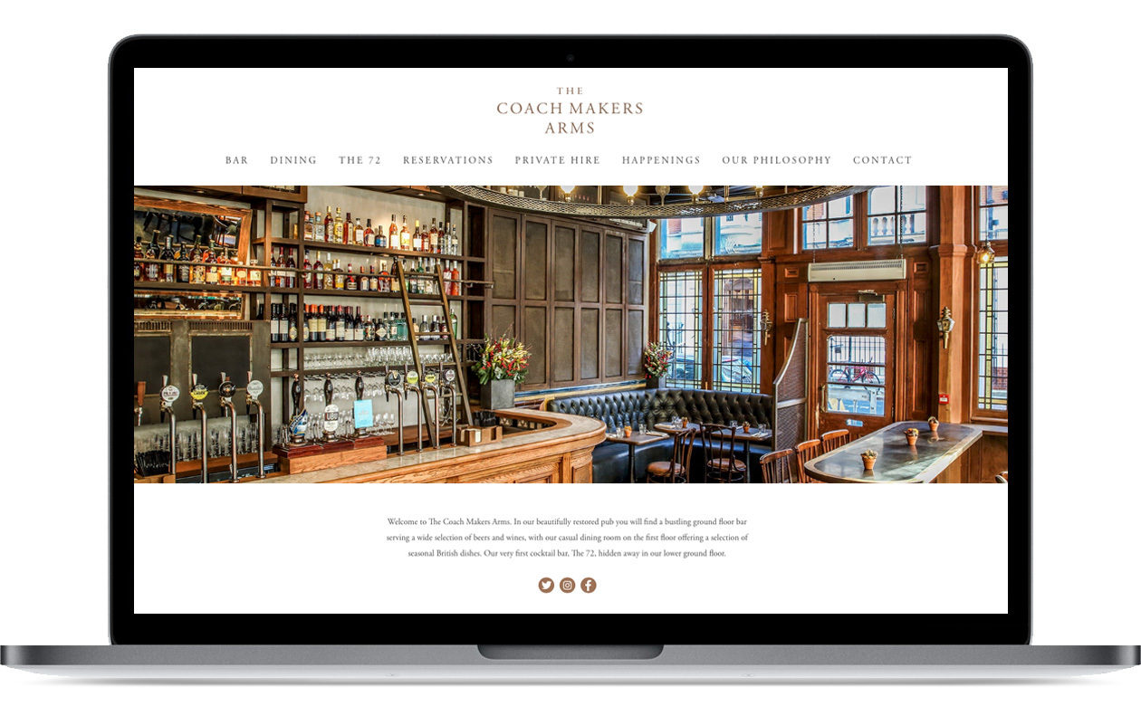The Coach Makers Arms - website