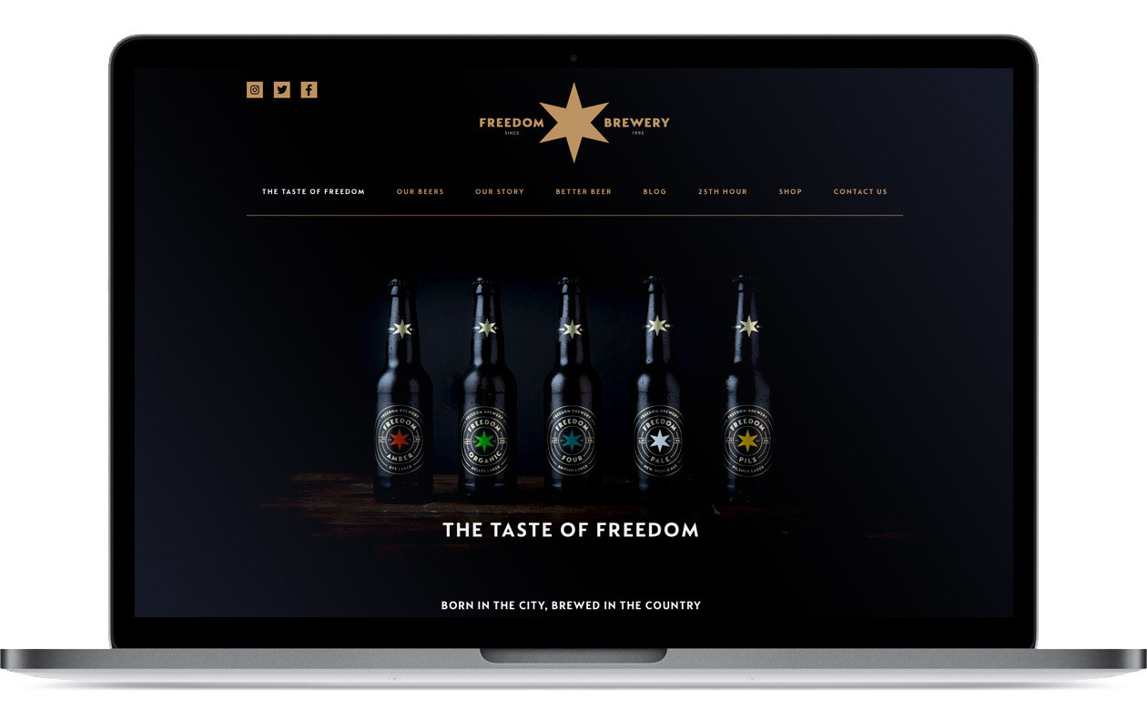 Freedom Brewery - Website